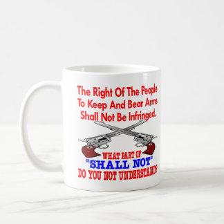 White 2nd Amendment Not Understand Coffee Mugs