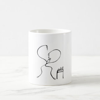 White 325 ml  Classic White Mug. Guy Preening. Coffee Mug