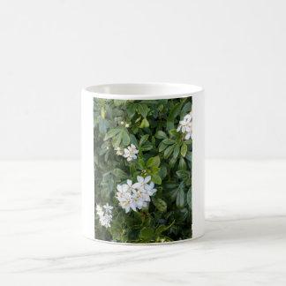White 325 ml  Classic White Mug. White Flowers. Coffee Mug