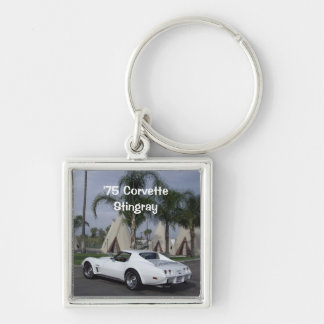White '75 Corvette Stingray Keychain