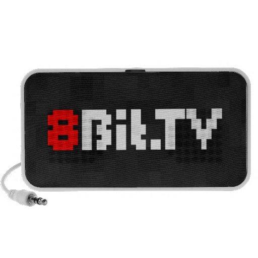 White 8Bit Logo Speaker