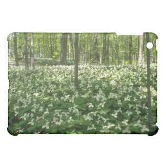 white A field of trilliums, Niagara Falls flowers Case For The iPad Mini