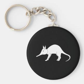 White Aardvark. Cute animal. Key Ring