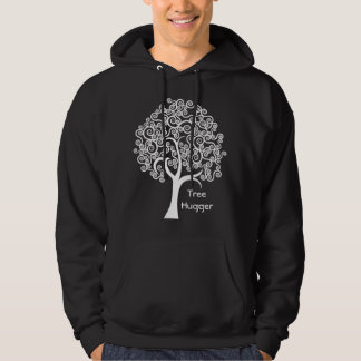 White Abstract Tree Hoodie