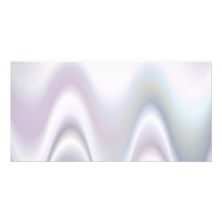 White abstract wave design photo card