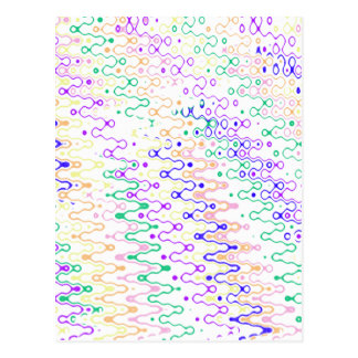 White Abstract Zigzag Postcard