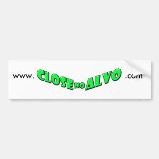 White adhesive bumper sticker