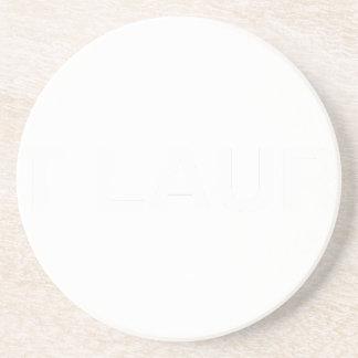 White AIN'T LAURENT LOGO Coaster