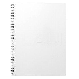 White AIN'T LAURENT LOGO Spiral Notebook