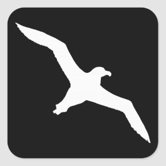 White Albatross Square Sticker