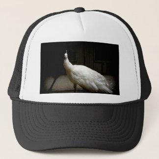 White Albino Peacock Trucker Hat