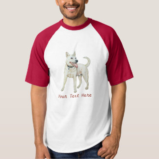white american bulldog panting original art T-Shirt