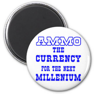 White Ammo Currency Next Millenium 6 Cm Round Magnet