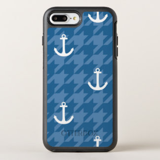 White Anchor Pattern OtterBox Symmetry iPhone 7 Plus Case