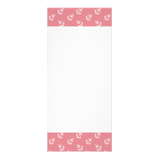 White Anchors Strawberry Background Pattern 10 Cm X 23 Cm Rack Card