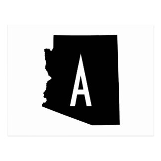 White and Black Arizona Monogram Postcard