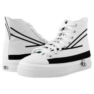 White and Black Aveso 2 Hi-Top Sneakers