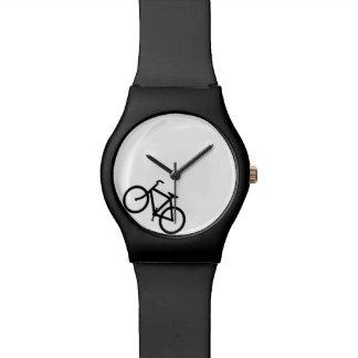 White and Black Bike Watch