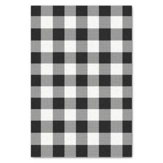 White and Black Buffalo Check Plaid - Tissue Paper