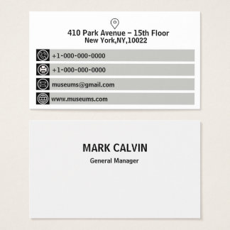 White And  Black Business Card