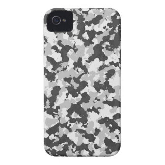 White and Black Camo pattern iPhone 4 Covers