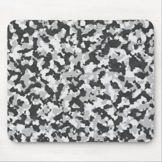White and Black Camo pattern Mouse Pad