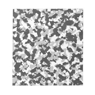 White and Black Camo pattern Notepad