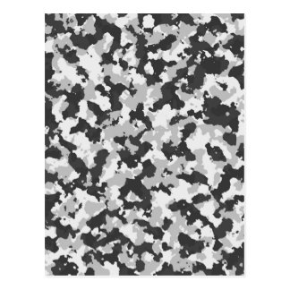 White and Black Camo pattern Postcard