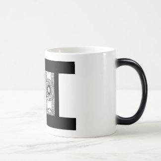 White and Black Coffee Cup Morphing Mug