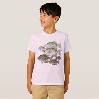 White and Black Crappie Schools T-Shirt