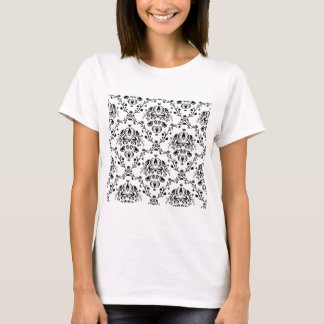 White and Black Damask T-Shirt