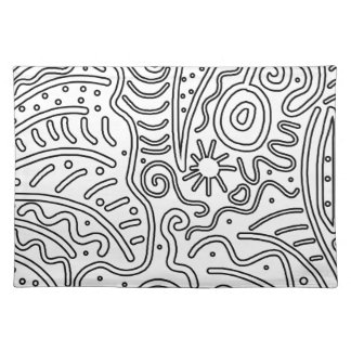 White and black design placemat