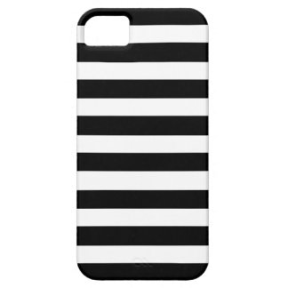 White And Black Elegant Horizontal Stripes Pattern iPhone 5 Cover