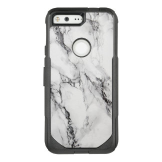 White And Black Marble Stone Texture OtterBox Commuter Google Pixel Case