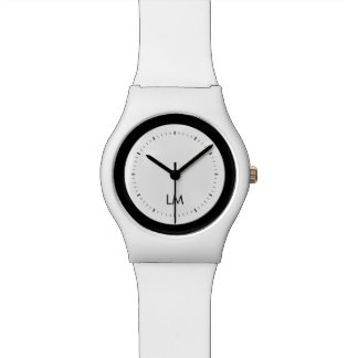 white and black modern may28th watch
