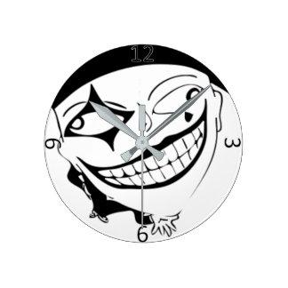 White And Black MTJ Round Clock