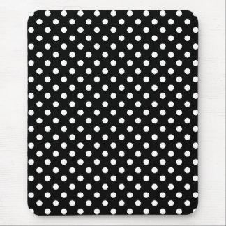 White and Black Polka Dot Mouse Pad