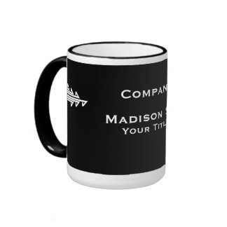 White and Black Professional Simple Mugs