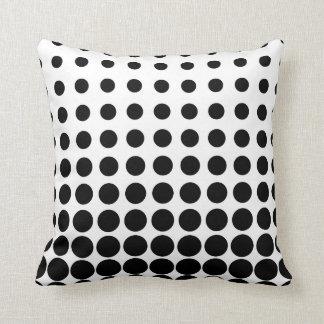 White and Black Progressive Dots Cushion
