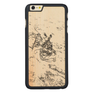 White and Black random art Carved® Maple iPhone 6 Plus Slim Case