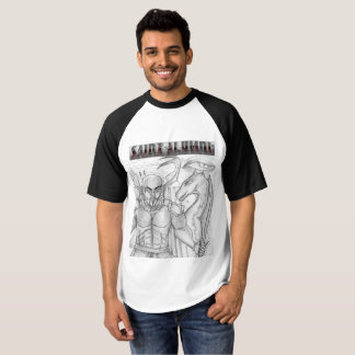White and Black Saint-Alumni T-Shirt by Moss Wear