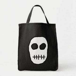 White and Black Skull. Primitive. Canvas Bag