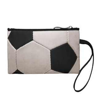 White and Black Soccer Ball Coin Purse