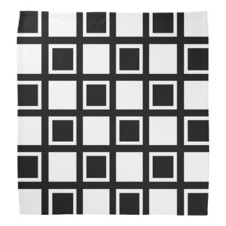 White and Black Squares Bandana