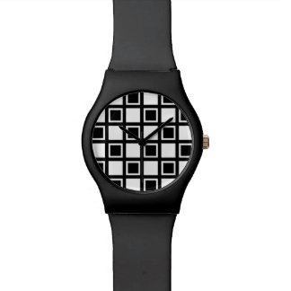 White and Black Squares Watch