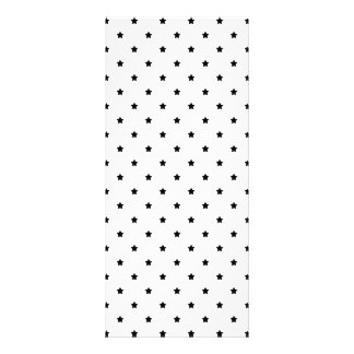 White and Black Star Pattern. Customized Rack Card
