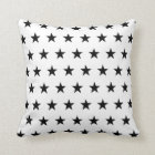 White and Black Stars Cushion