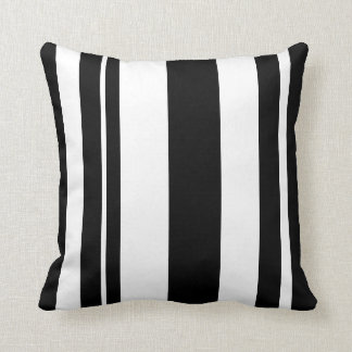 White and Black Striped throw pillow