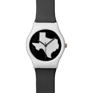 White and Black Texas Shape Watch