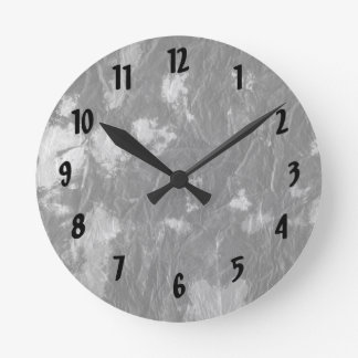 white and black wrinkled paper towel image clock